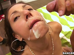 Free Porn Teen Brunette Plays With Two Joysticks