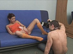 Free Porn Anorexic Brunette  Teen  From  Brazilia In  The  Sauna