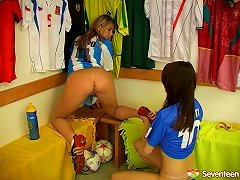 Free Porn Sporty Girls After Soccer Practice Fuck In The Locker Room