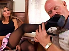 Free Porn Classy  Teen Gets Screwed In Sexy Black Stockings