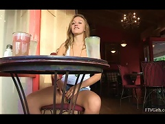 Free Porn Sexy Teen Plays With Her Soft Tits At A Cafe
