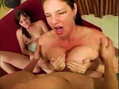 Free Porn Big Tittied  And Slim Teen In Great Threesome Video