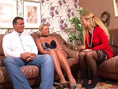 Free Porn Two Older Women Suck And Sit On A Younger Guy's Cock