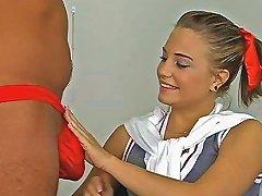 Free Porn Amateur Schoolgirl Jacks Off A Big Boner And Gets Boned