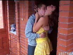 Free Porn Nasty And Aleksandr Fuck In A Porch In Hardcore Scene