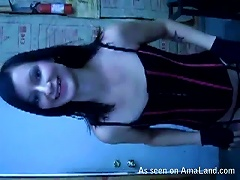 Free Porn Cute Gothic Babe In S Gives A