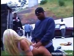 Free Porn Blonde Gets Fucked From Behind Out In The Public By Black Dude