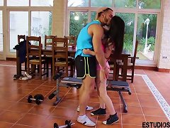 Free Porn Spanish Teen Fucks Her Fitness Coach