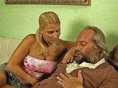 Free Porn Frisky Teen Hoe With Punytails Sucks Cock Of Old Grandpa