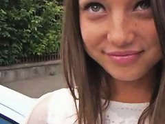 Free Porn Pretty Brunette Teen Slut Foxy Di Ass Fucked In Public