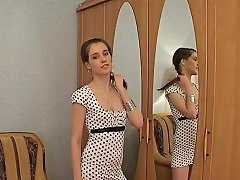 Free Porn Slim Russian Brunette Gets Fucked Thanks To Her Little Dress