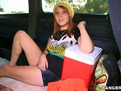 Free Porn Cute Redhead  Sucks And Gets Fucked  In Bangbus