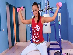Free Porn Sexy Victoria Sweet Fucked And Facialized By Gym Instructor