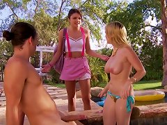 Free Porn Christie Stevens And Adria Rey In Outdoor Threesome