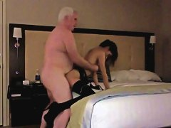 Free Porn Lucky Granpa Scored A Slutty Teen Chick