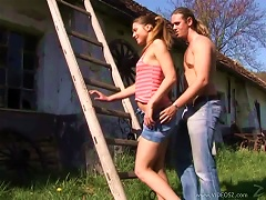 Free Porn Sexy Teen Is   And Gets Fucked By A Hard Cock Outdoors