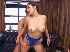 Free Porn Shiny Blue Leotard On An Asian Teen Babe Taking Big Cock