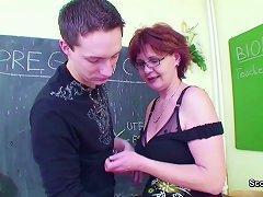 Free Porn Female Sex Teacher Seduce Young Boy To Fuck Her Milf Pussy