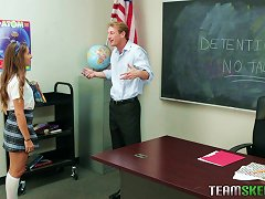 Free Porn Willing Teen Babe Pleasing Her Professor For A Better Grade