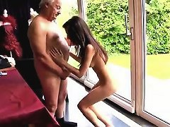 Free Porn Young Tiny Teen And Old Man Horny Senior Bruce Spots A Lovel