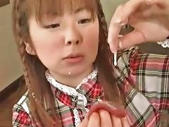 Free Porn Cute Japanese Eating Jizz