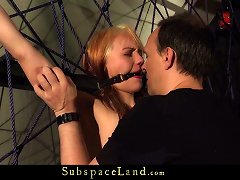 Free Porn Lexi Caught In BDSM Web And Pervert Used