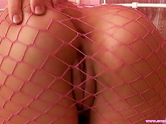 Free Porn Sexy  In Pink Fishnets  Her Pussy With Pink