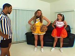 Free Porn Cristina Agave And Her Cheerleader Friend Bend Over For A Black Dick