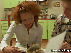 Free Porn Curly Redhead Teen Gets Fucked And Toyed In The Kitchen