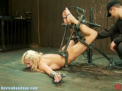 Free Porn Busty Blonde Teen Getting Tied Up An  Of A Fucking Machine