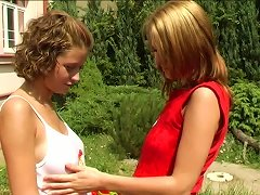 Free Porn How About Watching These Two Lesbians Drilling Their Muffs Outdoors