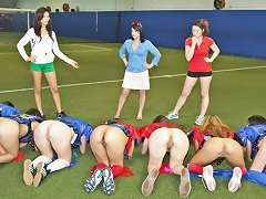 Free Porn Sexy American Students Play Naked Football