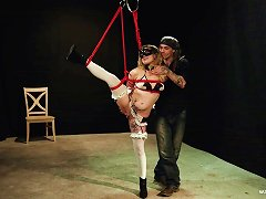 Free Porn Submissive Blonde Teen Tied Up And Tortured With Many Toys