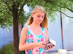 Free Porn Blonde Babe Hannah Flashes Her Private Parts In Public