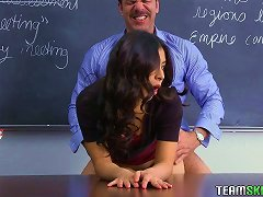 Free Porn After Class Sex With The Naughty Teen Latina Nicole Ferrera