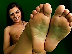 Free Porn Leggy Teen Teases Her Tits And Feet