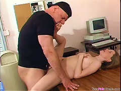 Free Porn Old Cock Fucks This Cute  Teen's  In His Office