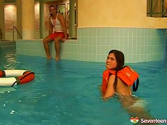 Free Porn Swimming Instructor Penetrates A Pretty Teen's Shaved Pussy