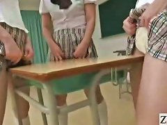 Free Porn Subtitled Japanese Schoolgirls In Thongs Butt Judging