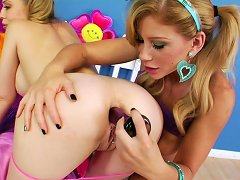 Free Porn Naughty Toy Insertion Along Two Slutty Teens