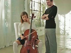 Free Porn Cello Lesson Ending Up With Passionate Sex