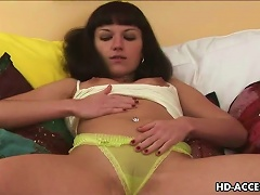Free Porn Super Sexy Brunette Solo Teen Has Tiny Vagina For !