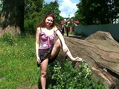 Free Porn Naughty And Playful Young Chick Outdoors Poses On Cam