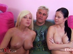 Free Porn Stunning Babes Loni And Rikki Are In A Group Sex