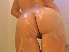 Free Porn Cute  Gets Soapy And Wet While Having A Shower