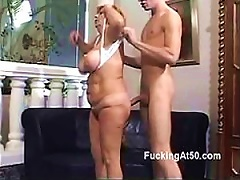 Free Porn Granny Gets Fucked Doggy Style By A Teen Stud