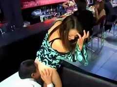 Free Porn Hot Waitress Fucks A Guy In A Bar In Front Of Everyone!