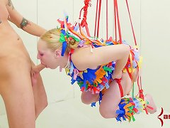Free Porn Colorful Bdsm Session For A Naughty Blonde Sex Slave