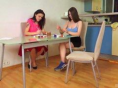 Free Porn Teen Artsy Lesbians Tetti Dew Komi And Clary Play With Toys