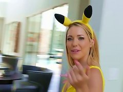 Free Porn Sweet Blondie In Fancy Yellow Suit Raylin Ann Gets Banged In Mish Pose Tough